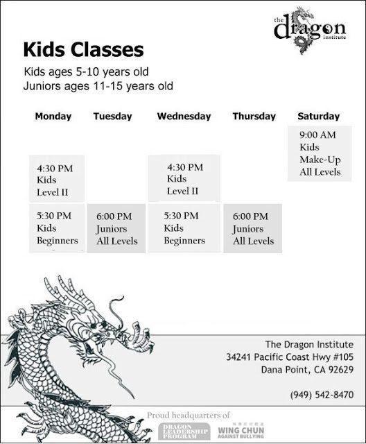 Dana Point Martial Arts Classes - Kids Wing Chun
